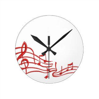 Relógio Redondo notas musicais