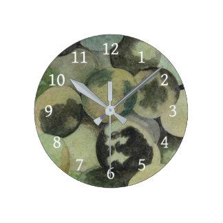 Relógio Redondo Nozes pretas