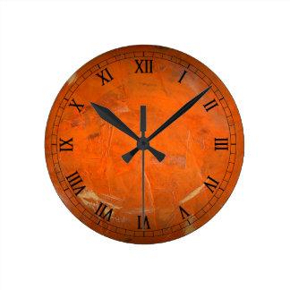 Relógio Redondo Numerais romanos vitrificados de Wallclock do