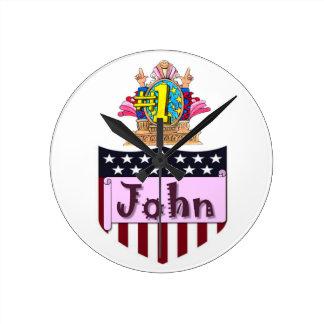 Relógio Redondo Número um John