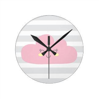 Relógio Redondo nuvem
