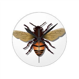 Relógio Redondo O amarelo customizável Bumble a abelha