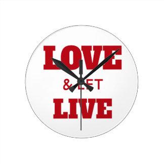 Relógio Redondo O amor e deixou vivo