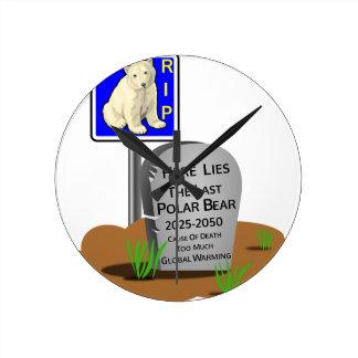 Relógio Redondo O aquecimento global, RASGA o urso polar 2050