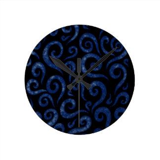 Relógio Redondo O azul roda teste padrão