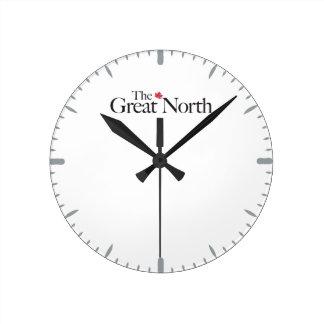 Relógio Redondo O grande clássico norte da folha de bordo de