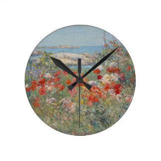 Relógio Redondo O jardim de Celia Thaxter, ilhas dos bancos de