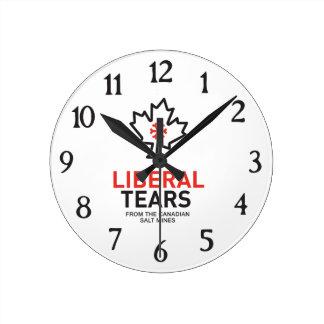 Relógio Redondo O liberal rasga o federalista engraçado de Canadá
