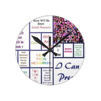 Relógio Redondo O março das mulheres