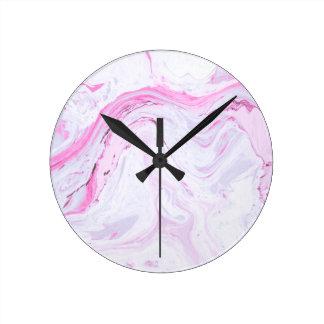 Relógio Redondo o mármore da morango personaliza-me design