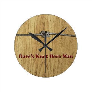 Relógio Redondo O nó de Dave aqui equipa - Multi-Produtos