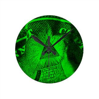 Relógio Redondo O olho de Illuminati