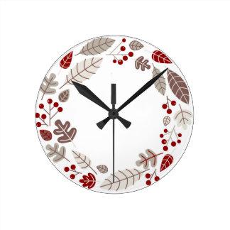 Relógio Redondo O original pintado deixa o círculo Brown