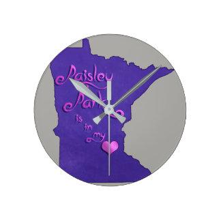 Relógio Redondo O parque de Paisley está em meu coração