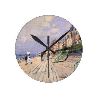 Relógio Redondo O passeio à beira mar em Trouville Claude Monet