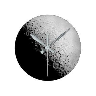 Relógio Redondo O pulso de disparo de parede redondo da lua |