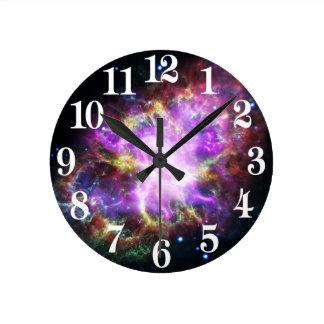 Relógio Redondo O raio X de Chandra na nebulosa de caranguejo