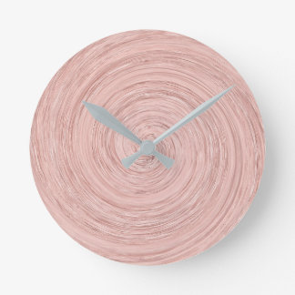 Relógio Redondo O rosa do rosa cora mínimo cinzento de vidro