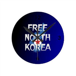 Relógio Redondo O T livra a Coreia do Norte