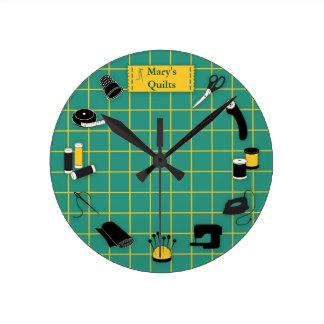 Relógio Redondo O tempo da edredão personaliza a etiqueta