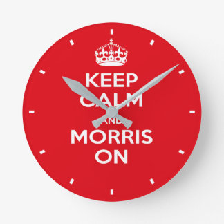 Relógio Redondo O vermelho de dançarino de Morris mantem o pulso