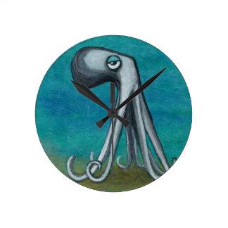 """Relógio Redondo O _We todo de """"Octosquid"""" conhece um"""