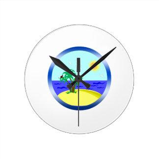 Relógio Redondo Oceano e luz solar