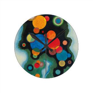 Relógio Redondo Óleo aprofundado do abstrato do impulso em canvas