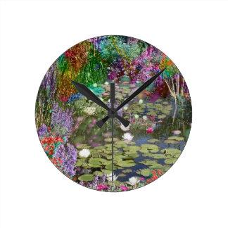 Relógio Redondo Olhe isto e você encontrará a paz