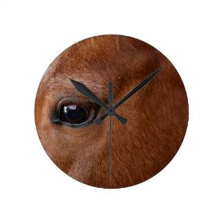 Relógio Redondo olho do cavalo