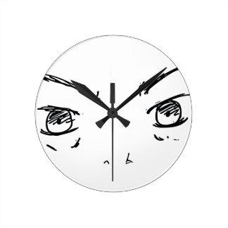 Relógio Redondo Olhos irritados 1