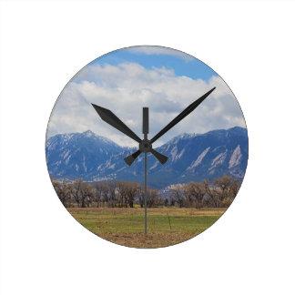 Relógio Redondo Opinião de cão de pradaria de Boulder Colorado