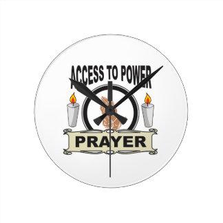 Relógio Redondo oração o acesso ao poder