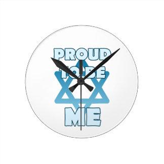 Relógio Redondo Orgulhoso ser judaico
