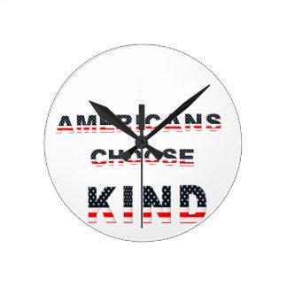 Relógio Redondo Os americanos escolhem o tipo