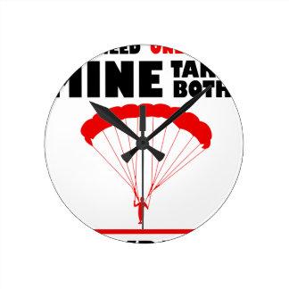 Relógio Redondo os esportes e skydive, mina tomam ambos