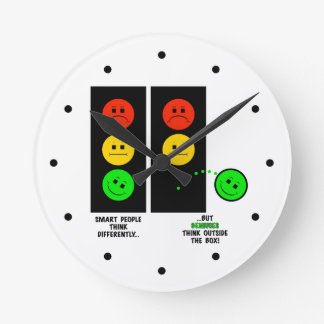 Relógio Redondo Os gênios temperamentais do sinal de trânsito