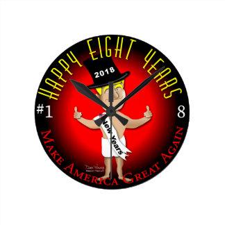 Relógio Redondo Os oito anos novos feliz