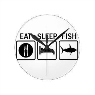 Relógio Redondo os peixes comem o sono