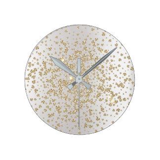 Relógio Redondo Ouro de cristal do diamante da gema de Ombre das