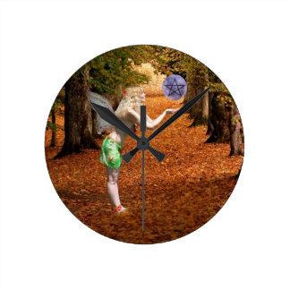 Relógio Redondo País das fadas do outono