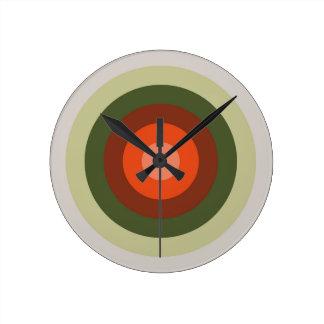 Relógio Redondo Paleta de cores do tomate
