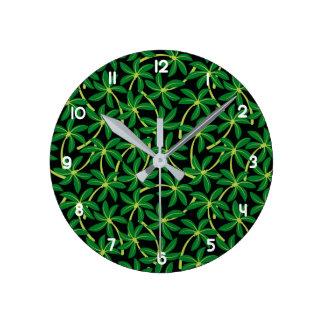 Relógio Redondo Palmeira tropical do coco