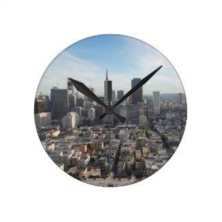 Relógio Redondo Panorama da skyline de San Francisco