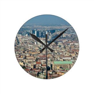 Relógio Redondo Panorama de Nápoles