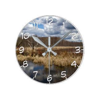 Relógio Redondo Pantanal Cloudscape