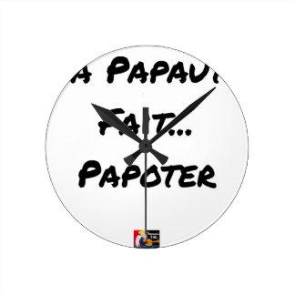Relógio Redondo PAPAUTÉ FAZ TAGARELAR - Jogos de palavras