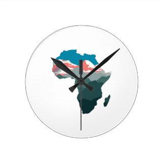 RELÓGIO REDONDO PARA GRANDE ÁFRICA