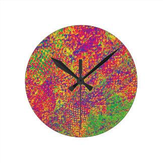 Relógio Redondo Para o amor das cores - Psychadelic