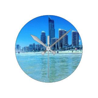 Relógio Redondo Paraíso redondo dos surfistas do pulso de disparo